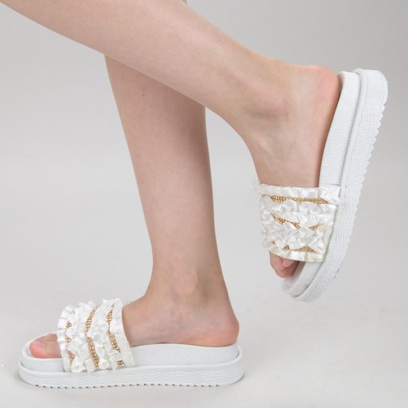 Papuci Dama cu Platforma HM-05 White Yiyi