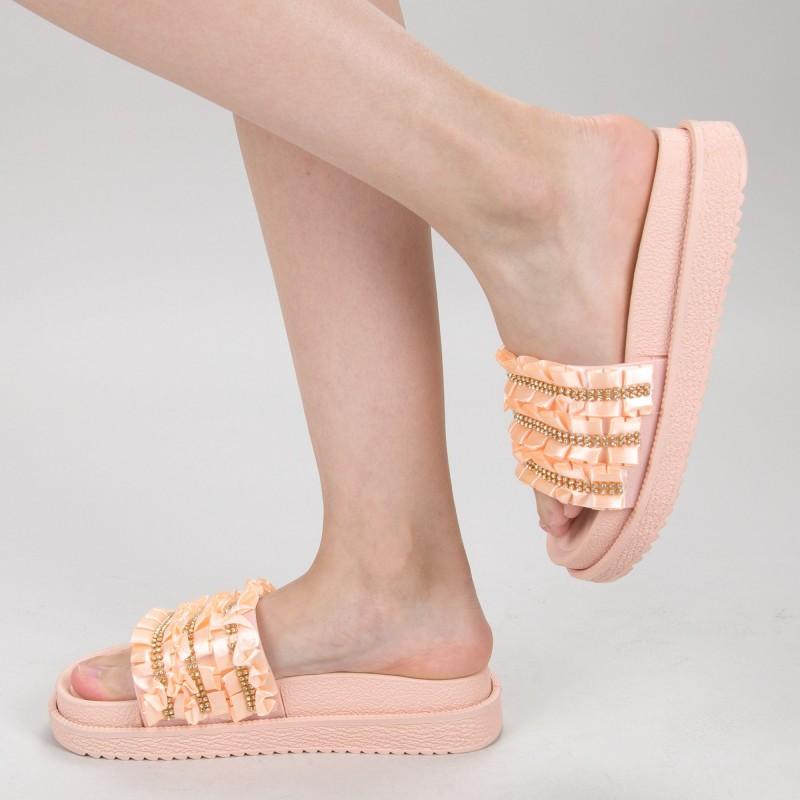 Papuci Dama cu Platforma HM-05 Pink Yiyi