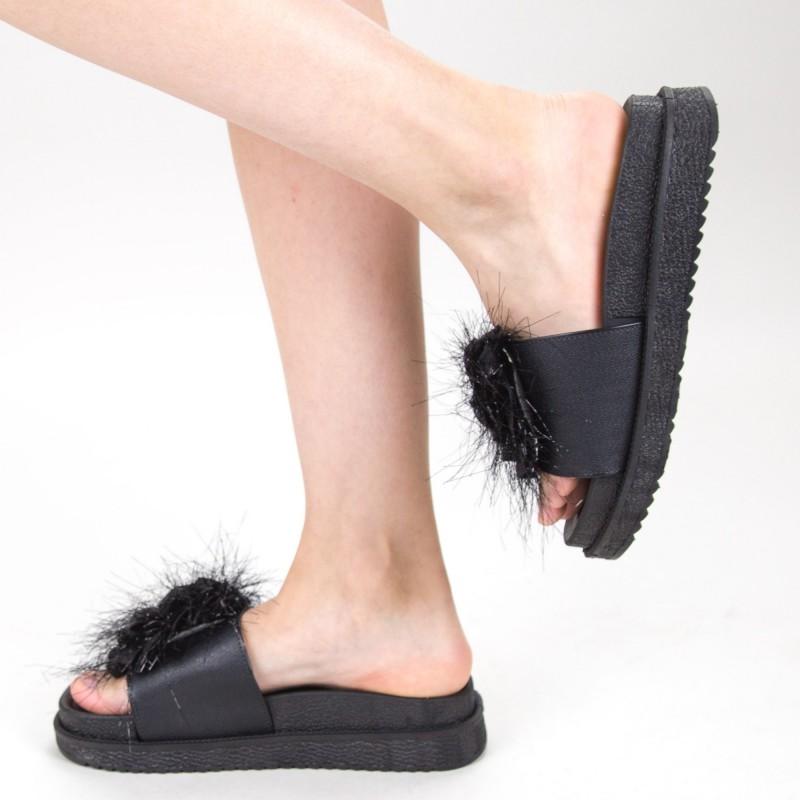 Papuci Dama cu Platforma HM-11 Black Yiyi