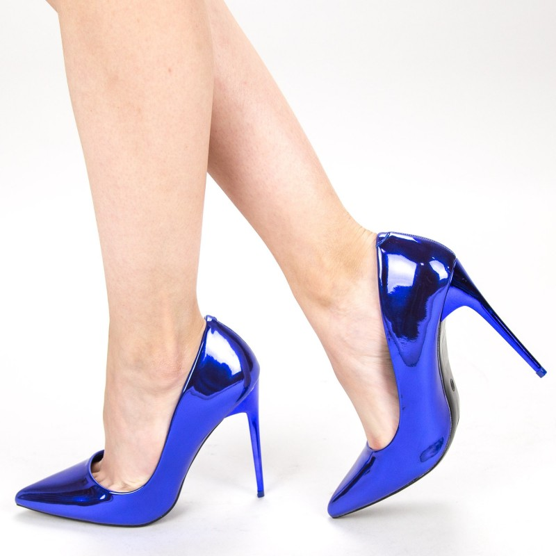 Pantofi cu Toc GE37A Blue Mei