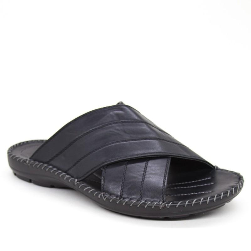 Papuci Barbati A03-1 Black Fashion