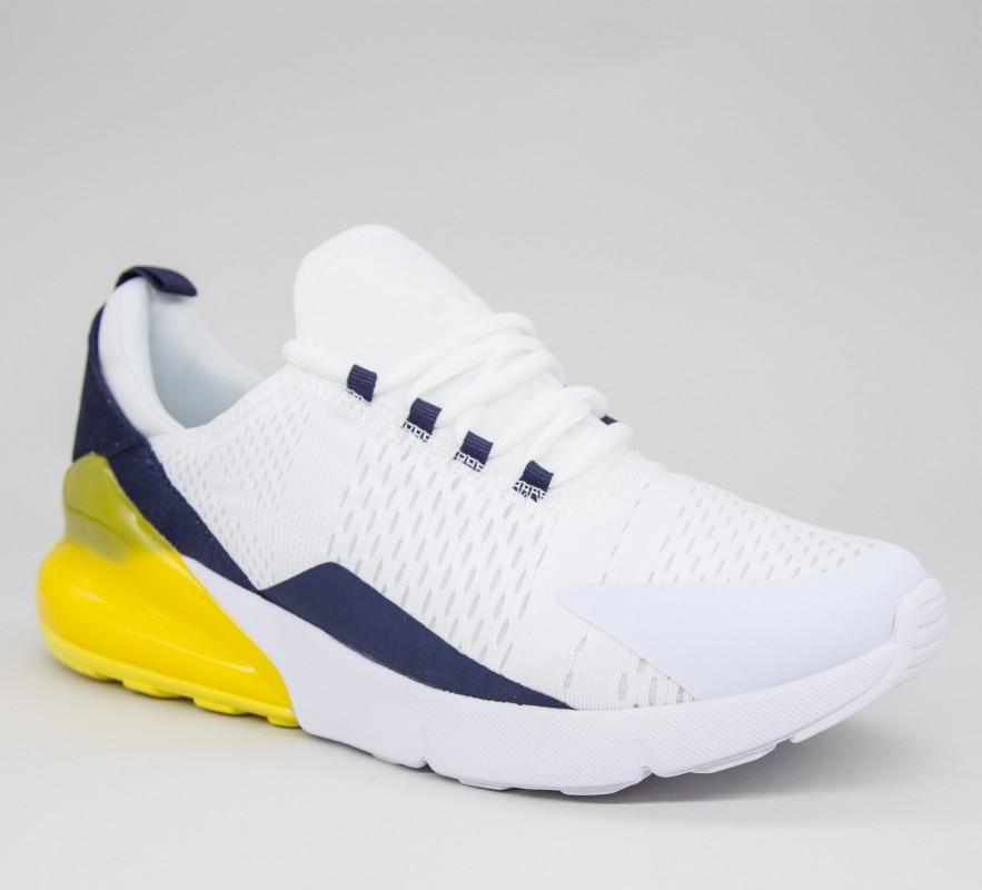 Pantofi Sport Barbati 369-11 PSB White-yellow Sport Fashion