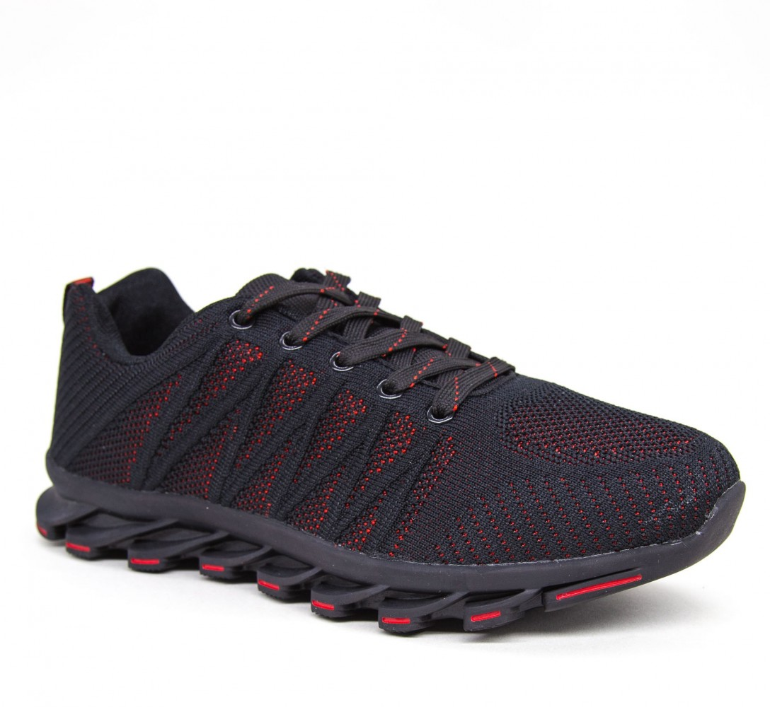 Pantofi Sport Barbati 1837 PSB Black-red Sport Fashion