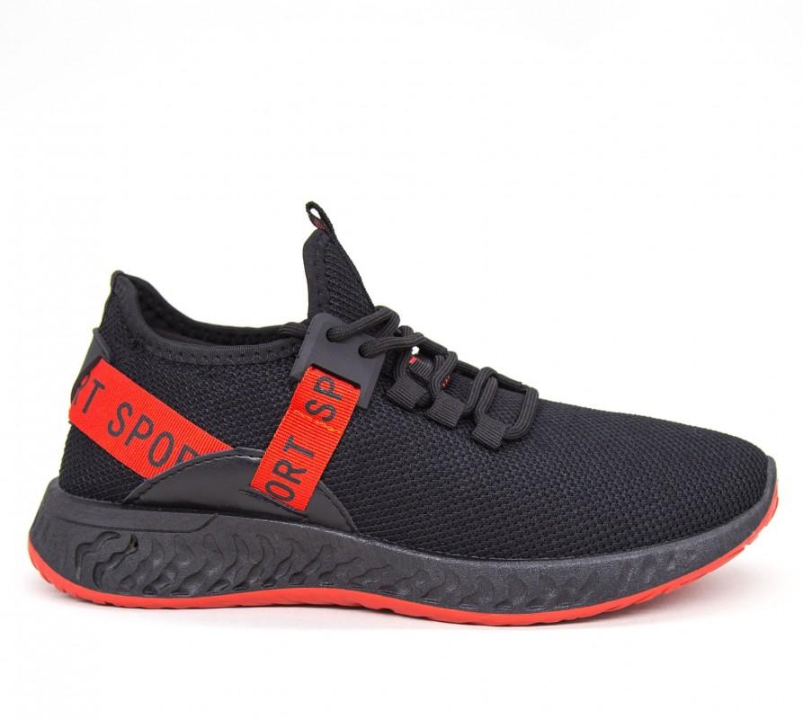 Pantofi Sport Barbati GB80 Black-red Mei