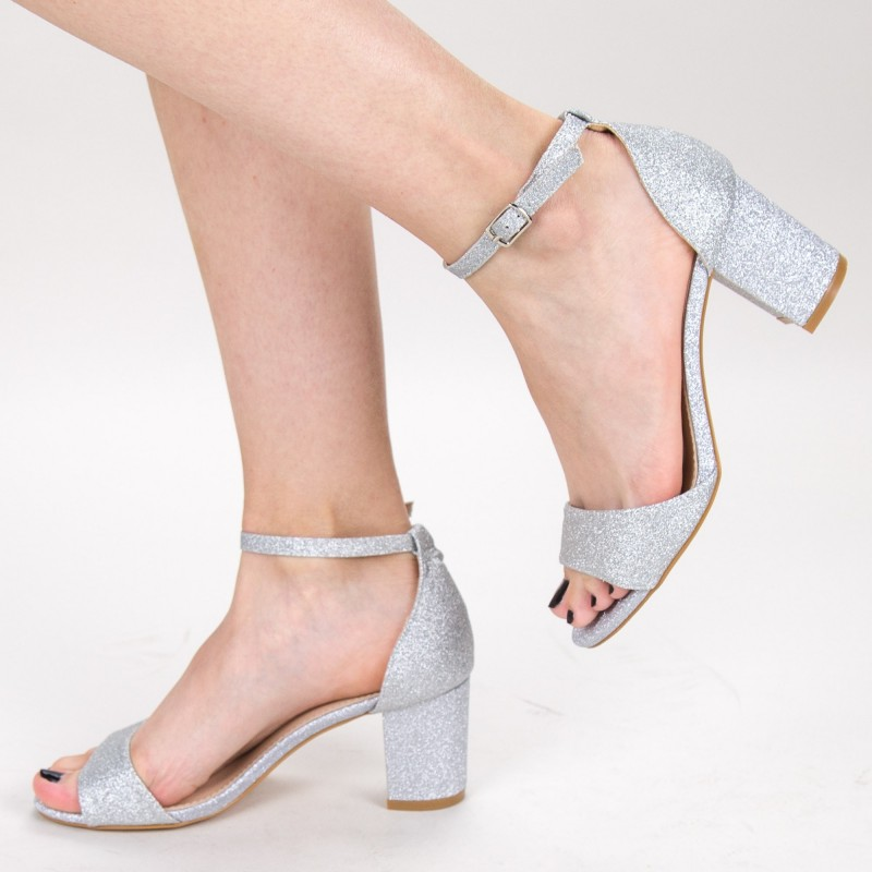 Sandale Dama cu Toc XD251RA Silver Mei