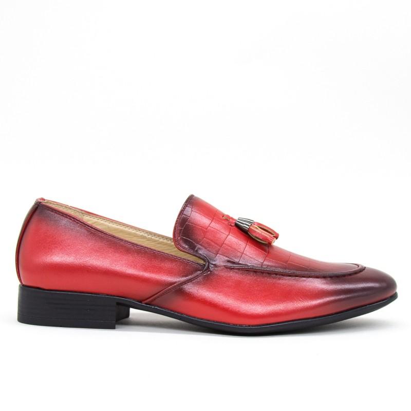 Pantofi Barbati A102-6 Red Fashion