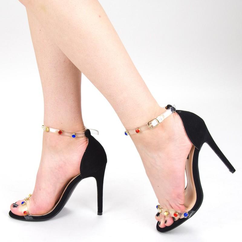 Sandale Dama cu Toc XKK168 Black Mei