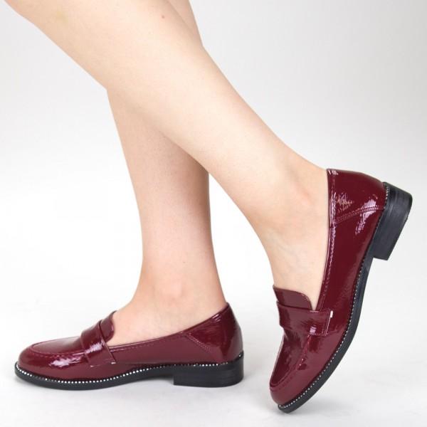 pantofi casual dama yt09 04 winered