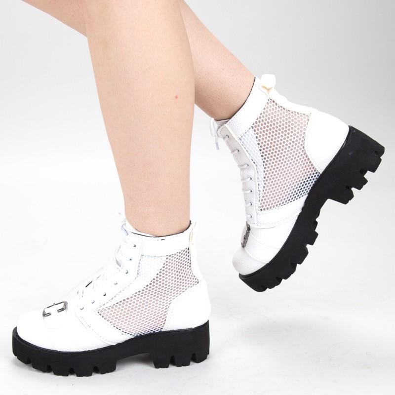 Ghete de Vara E03A White Fashion