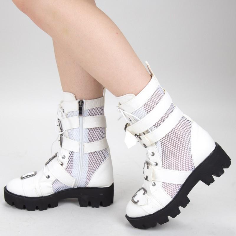 Ghete de Vara E04A White Fashion