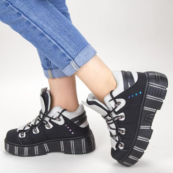 pantofi sport cu platforma sz132a 01 black