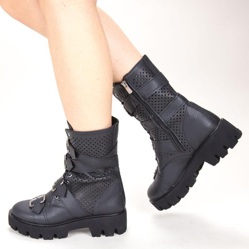Ghete Dama de Vara E06 Black Fashion