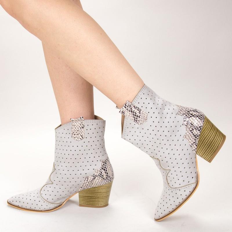 Ghete Dama de Vara E08 Grey Fashion