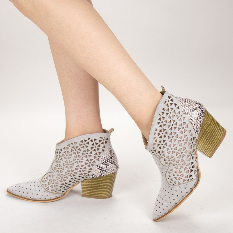 Ghete Dama de Vara E10 Grey Fashion