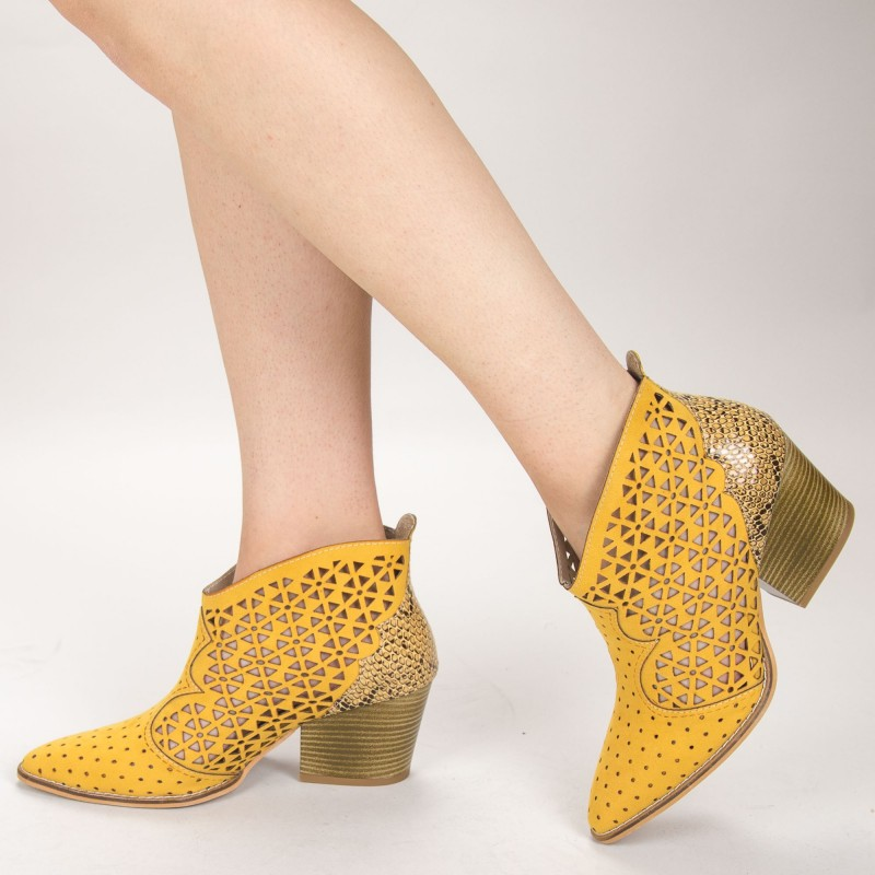Ghete Dama de Vara E10 Yellow Fashion