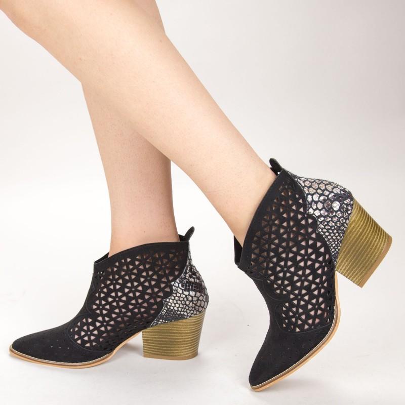 Ghete Dama de Vara E10 Black Fashion