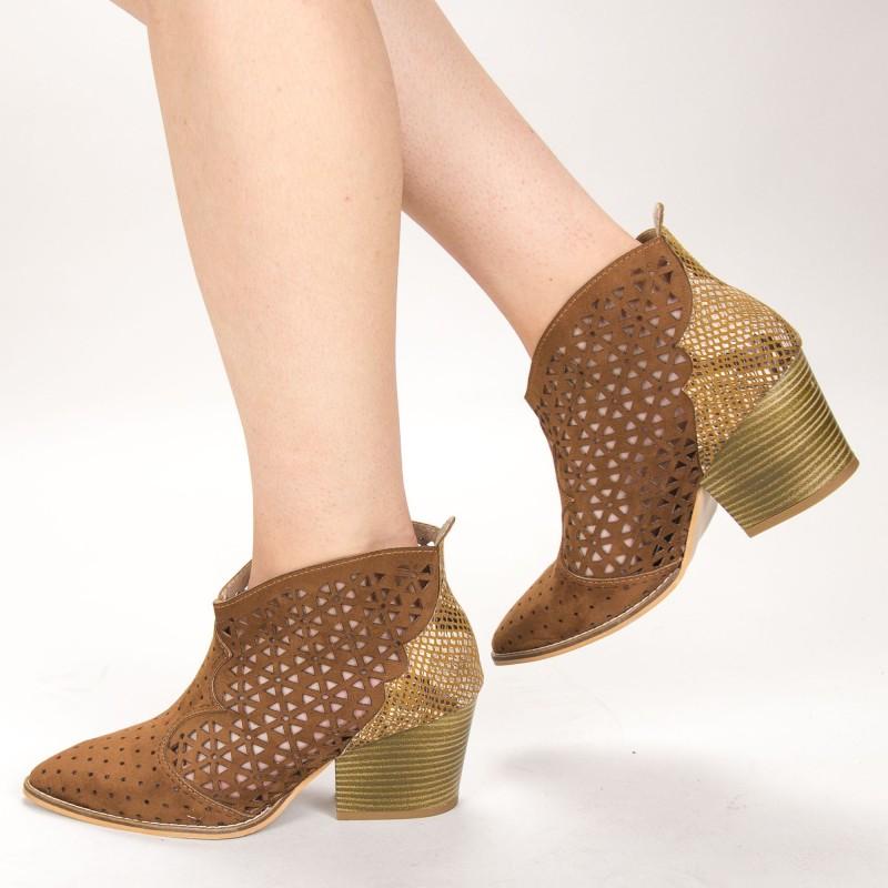 Ghete Dama de Vara E10 Brown Fashion