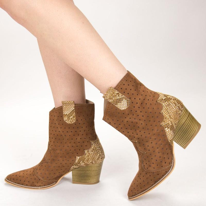 Ghete Dama de Vara E08 Brown Fashion