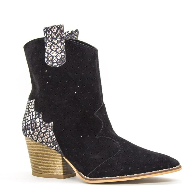 Ghete Dama de Vara E08 Black Fashion