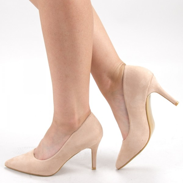 Pantofi cu Toc XD239T Beige Mei