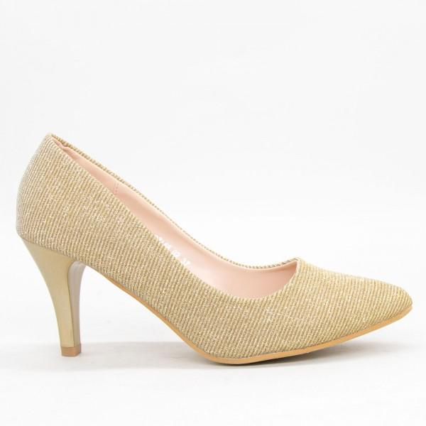 Pantofi cu Toc QZL68 Gold Mei