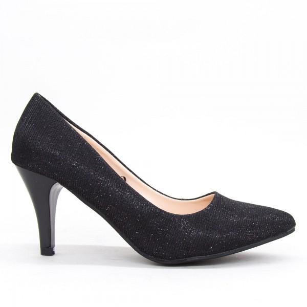 Pantofi cu Toc QZL68 Black Mei