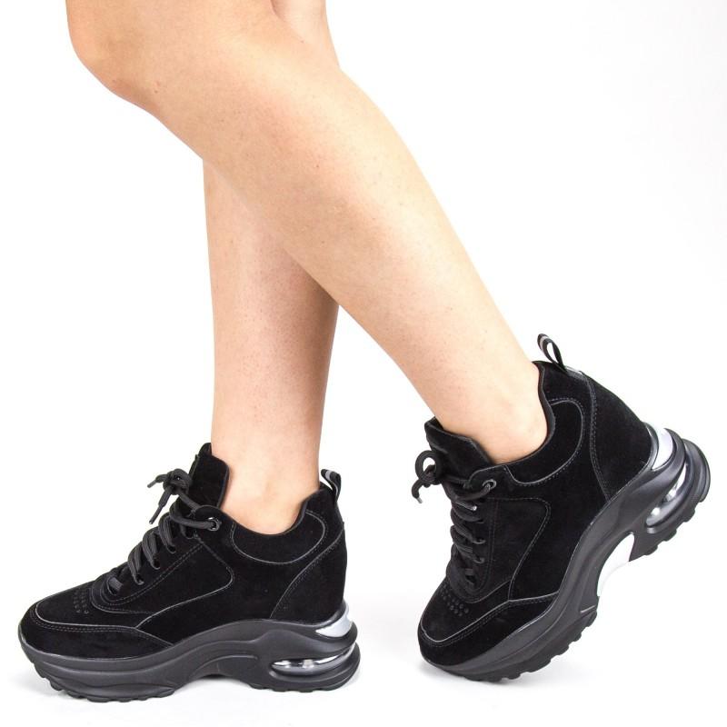 Pantofi Sport Dama cu Platforma YKQ173 Black Mei