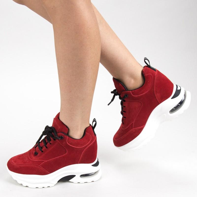 Pantofi Sport Dama cu Platforma YKQ173 Red Mei