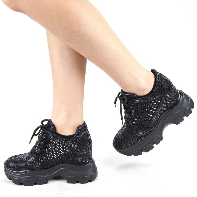 Pantofi Sport Dama cu Platforma SJN300 Black Mei
