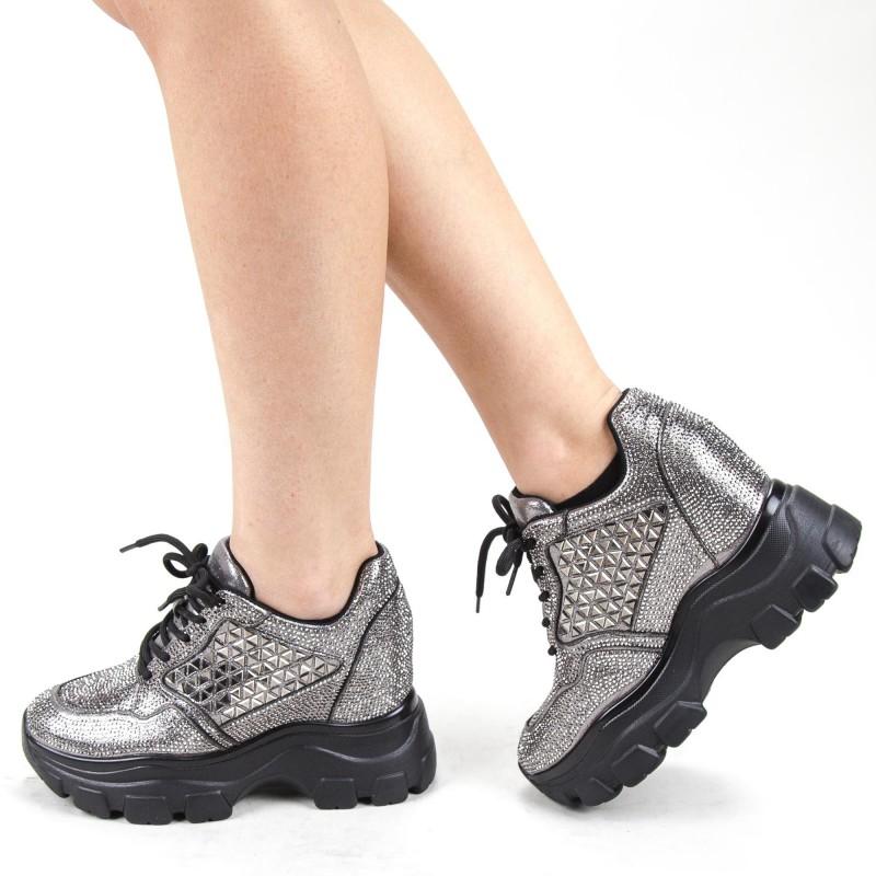 Pantofi Sport Dama cu Platforma SJN300 Guncolor Mei