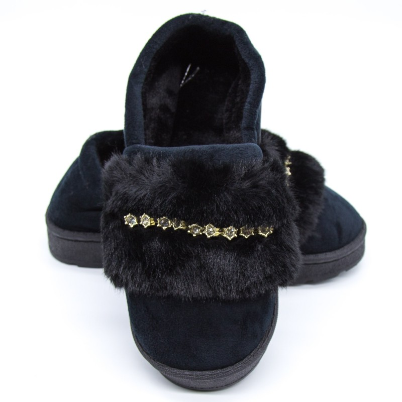 Papuci Dama de Casa FM8-5 Black Fashion