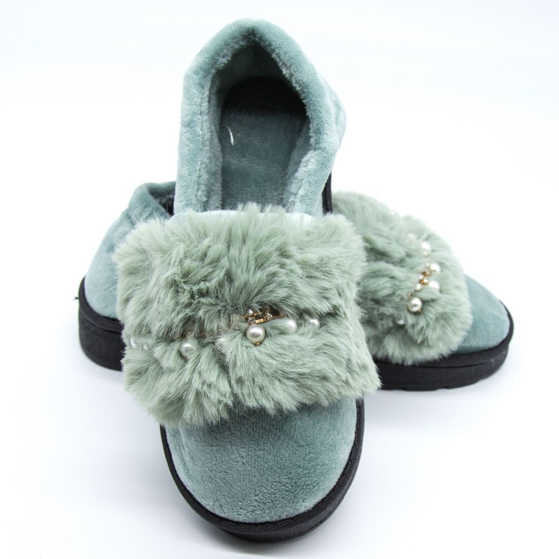 Papuci Dama de Casa FM8-2 Green Fashion
