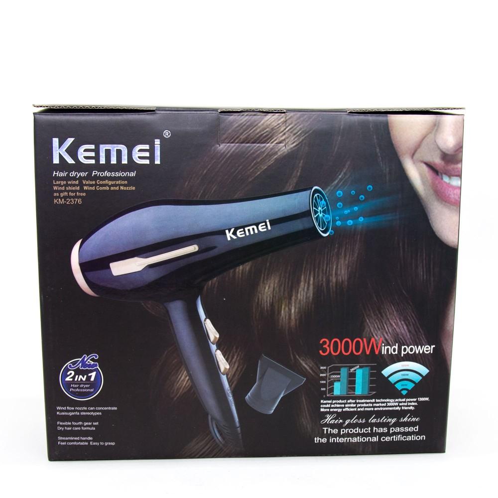 Uscator de par KM-2376 Negru Kemei