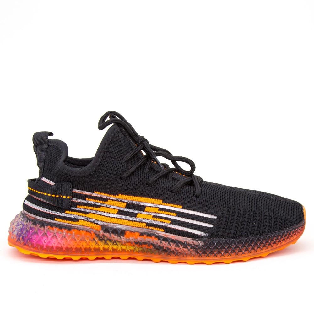 Pantofi Sport Barbati YKQ199 Black-Orange Mei