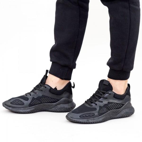 Pantofi Sport Barbati 1687 Black Fashion