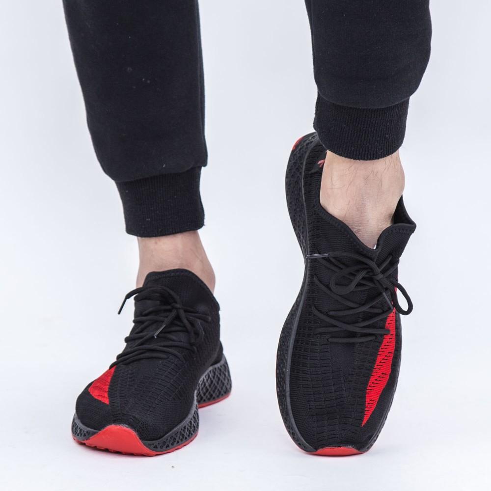 Pantofi Sport Barbati GB81 Black-Red (D51|N17|M64) Mei