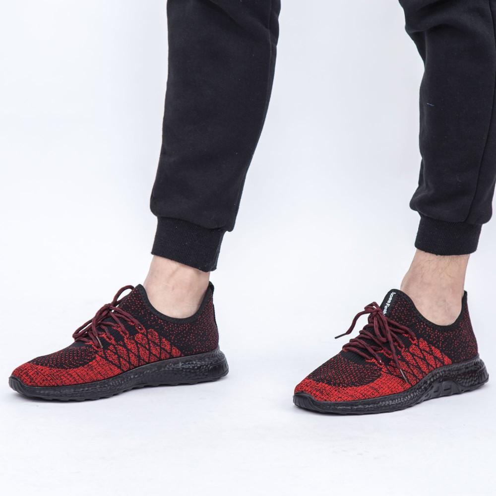 Pantofi Sport Barbati D4 Red-Black DCF68
