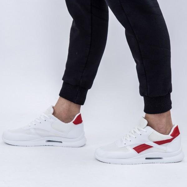 Pantofi Sport Barbati B06 White-Red DCF68
