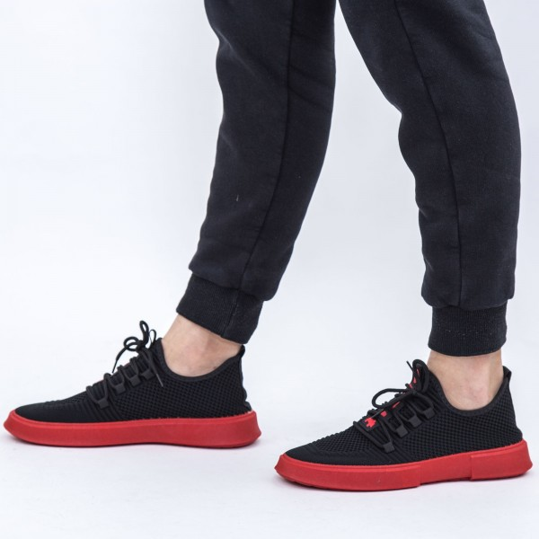 Pantofi Sport Barbati D727 Black-Red Se7en