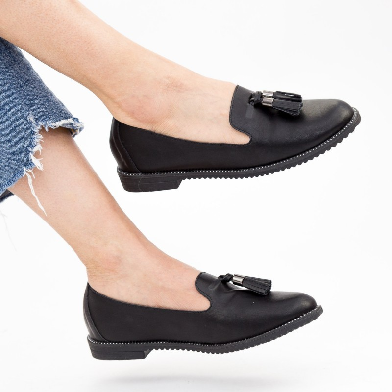 Pantofi Casual Dama YEH6 Black Mei