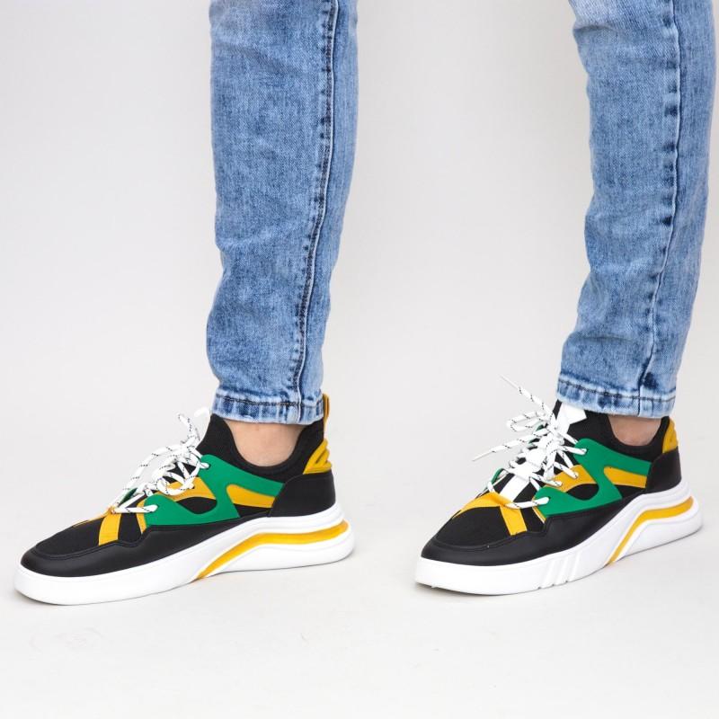 Pantofi Sport Barbati 9902-2 Black-Yellow Mei