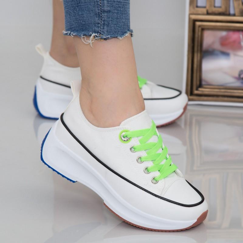 Pantofi Sport Dama cu Platforma XC2 White Mei