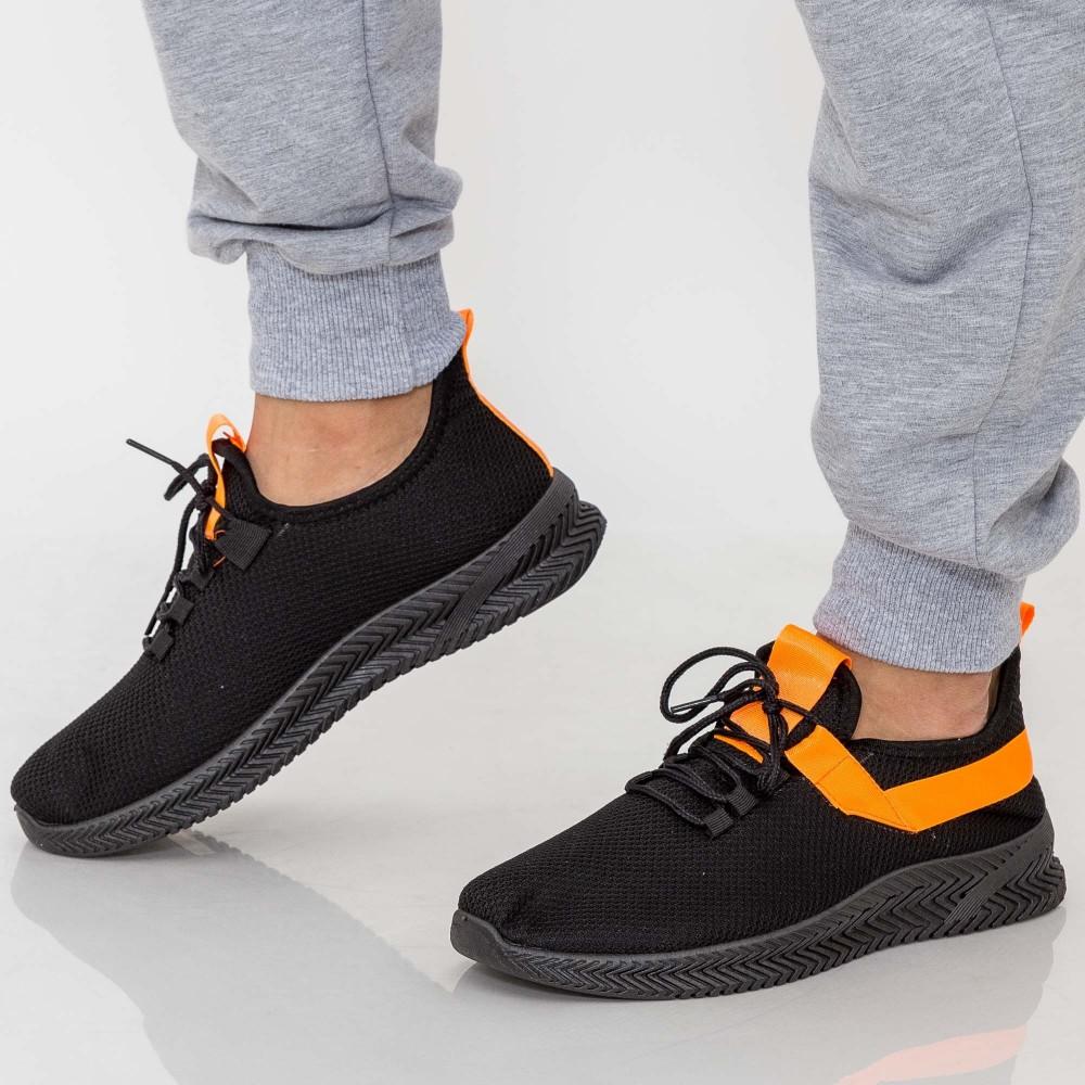 Pantofi Sport Barbati D808 Black-Orange Se7en