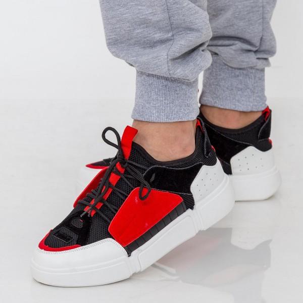 Pantofi Sport Barbati X607 Black-Red Se7en