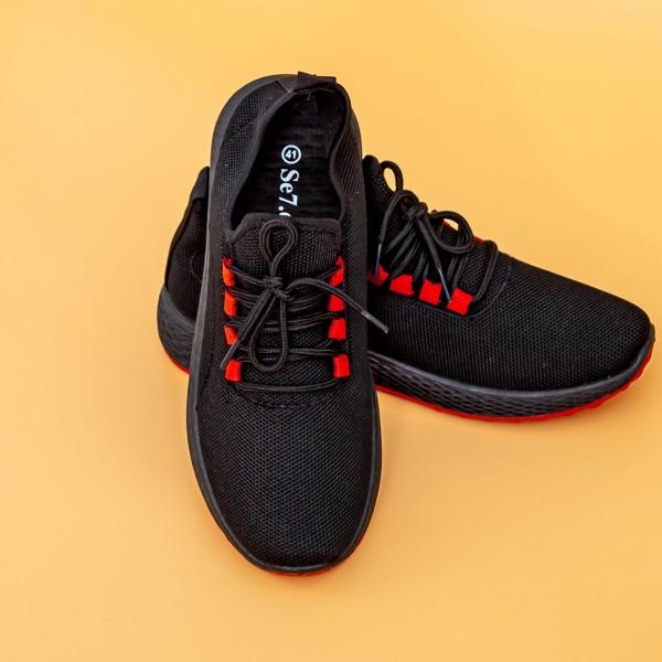 Pantofi Sport Barbati D755 Black-Red Mei
