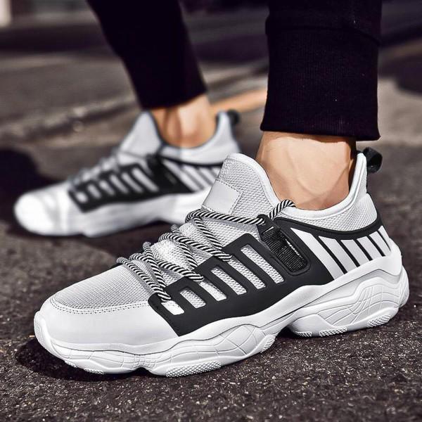 Pantofi Sport Barbati 0551 White-black Mei