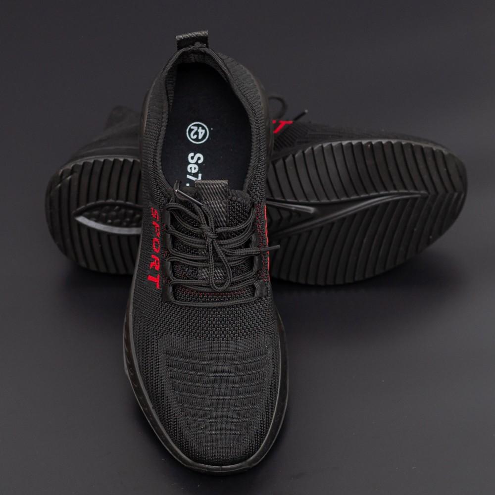 Pantofi Sport Barbati D810 Black-Red Se7en