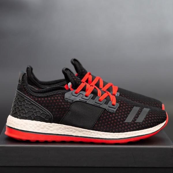 Pantofi Sport Barbati 738-A Black-Red Panter