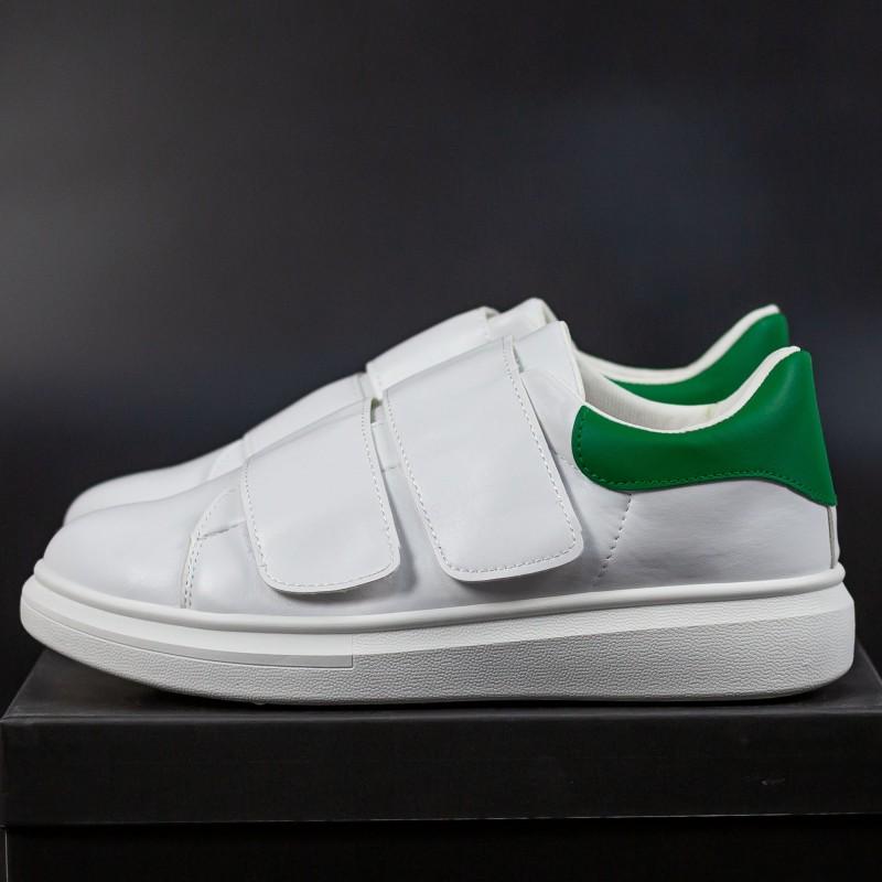 Pantofi Sport Barbati B83 White-Green Mei