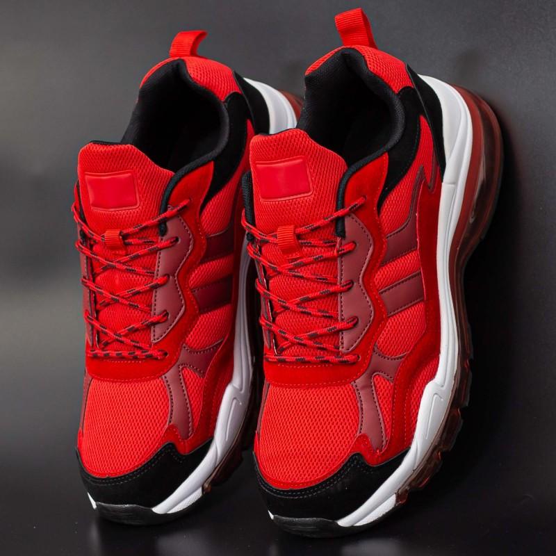Pantofi Sport Barbati 0553 Red-Black Mei